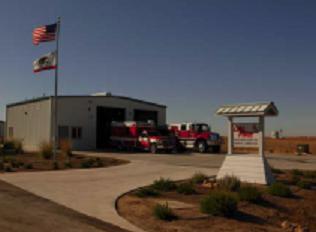 The Carrizo Plains Fire Station.