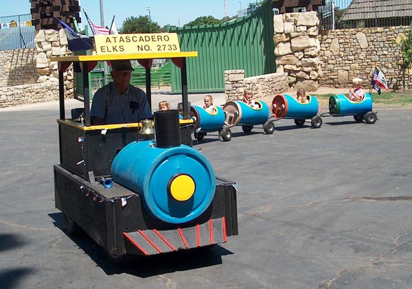 The Atascadero Elks Lodge will be offering rides on their train. Photo courtesy of Atascadero Elks Lodge.