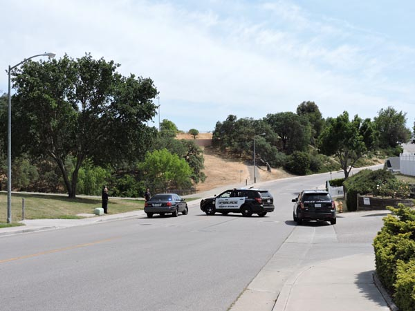The walking path, and the surrounding areas were placed on lockdown for the duration of the search.