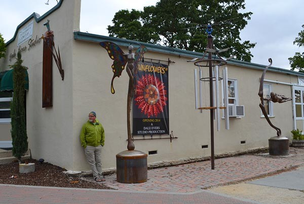 Dale Evers outside of his Paso Robles studio.