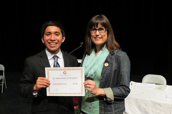 Scholarship recipient Alex Saad.