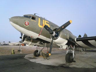 The historic WWII Betsy's Biscuit Bomber C47. Photo courtesy of Estrella Warbirds Museum.