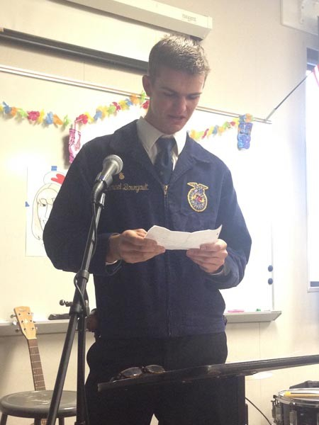 FFA President Nathanael Bourgault got emotional as he described Clement's impact on his life.