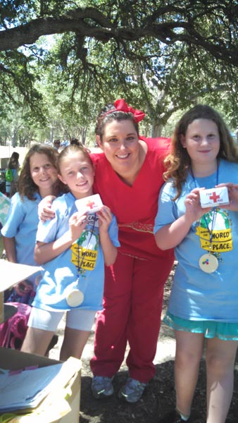JOliveira and Girl Scouts First Aid Badge