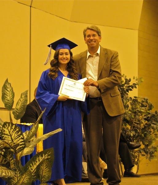 Scholarship recipient Sam Senet.