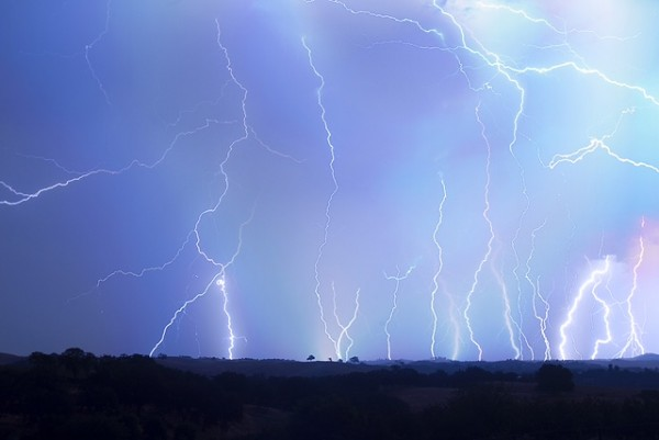 Lightning storm in Paso Robles. Photo by Evan Bishop.