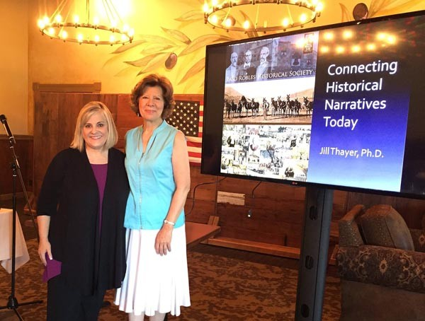 Jill Thayer and Paso Robles Historical Society President Grace Pucci. Courtesy photo.