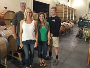 From left are Rabbit Ridge owners Erich and Joanne Russell with their daughter, Sarah Fleming and Brice Garrett.    Photo by Paula McCambridge