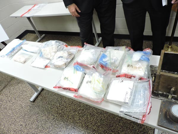 More than five kilos of cocaine were seized in the bust.