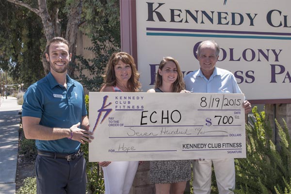 Sean Kennedy, general manager, Debra Albert, membership & marketing manager, Mimi Rodriguez, ECHO interim executive director, and Jim Patterson, ECHO board president. Photo by Robin Smith.