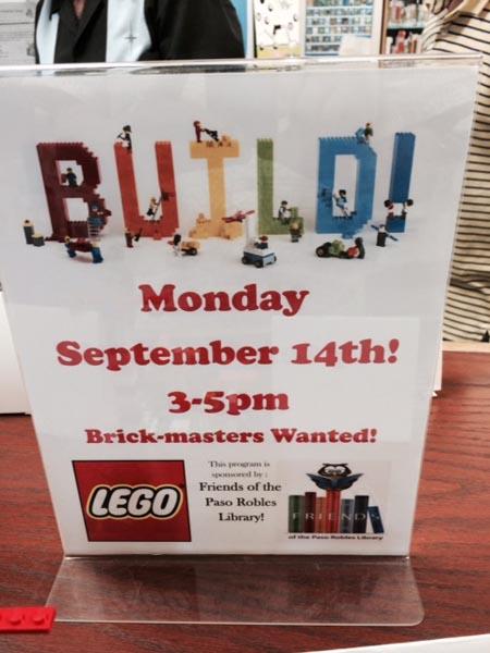 Paso Robles library Legos 5