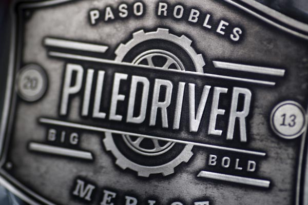 Piledriver Wine label. Printed at TAPP Label Co. View more here.
