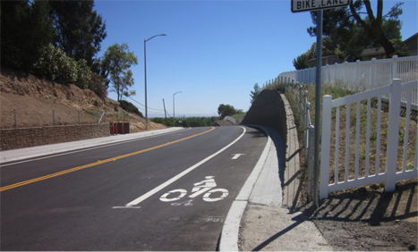 The completed Union Road bike lanes project. Courtesy photo.