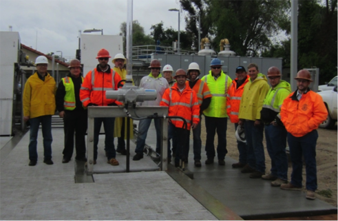 The project team at startup of City of Paso Robles Wastewater Treatment Plant Upgrade, April 2015. Courtesy photo.