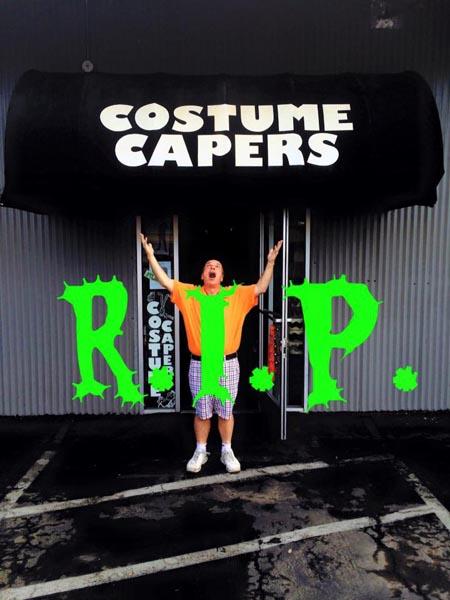 costume capers closing