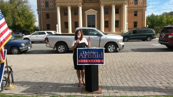 Debbie Arnold has officially announced her campaign for re-election. Photos by Teresa Turner.