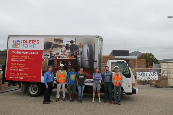 idlers donates to solar cal poly