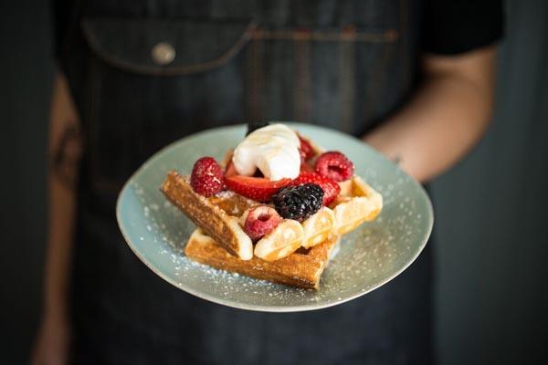 kitchenette waffles