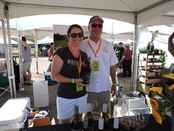 Tricia Swartz and Randy Record of Record Family Wines, which debuted their new vintages at the event.