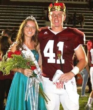Paso Robles High School 2015 Homecoming Queen Ashley Davis and King Matt Keller