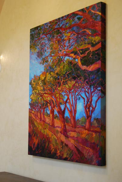 The villa-style resort was appointed with dozens of pieces of original art, such as this Erin Hansen painting.