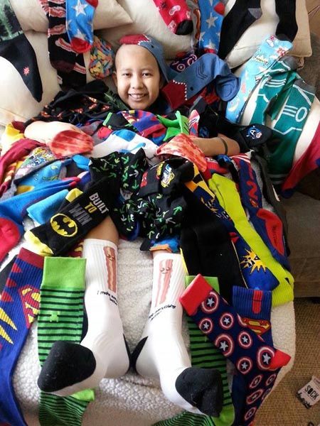 San Benito Elementary School in Atascadero conducted a sock drive to help raise money for the Bedoya family. Courtesy photo.