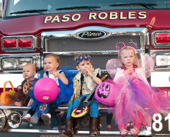 Safe and fun halloween downtown paso robles