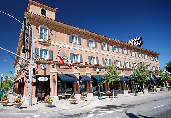 The Carlton Hotel. Photo from Atascadero Chamber of Commerce.