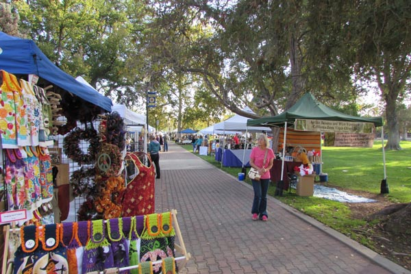 A view of some of the vendors at Saturday's Golden Oak Honey Festival in Paso Robles. Photos by Jackie Iddings.