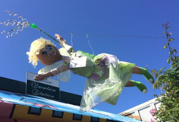 Flying fairy floats above Breen Vacation Station. Photo by Meagan Friberg