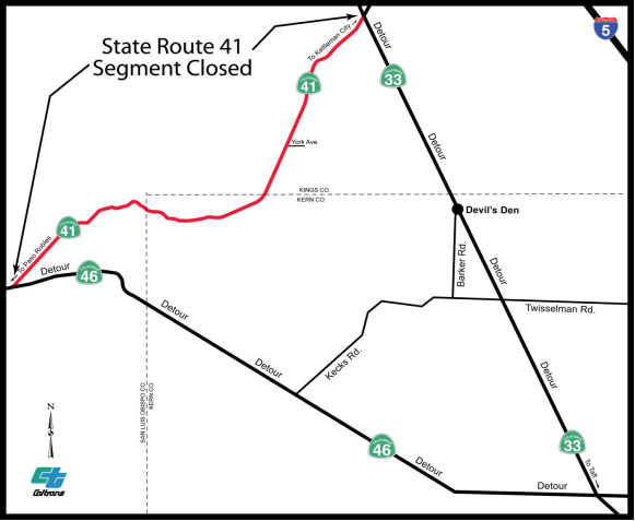 Highway 41 closure set for Oct  20 - Paso Robles Daily News