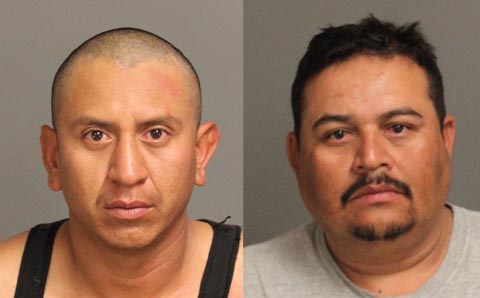 Deputies arrested 28-year-old Genaro Rendon Zamora (left) and 35-year-old Hector Flores Hernandez