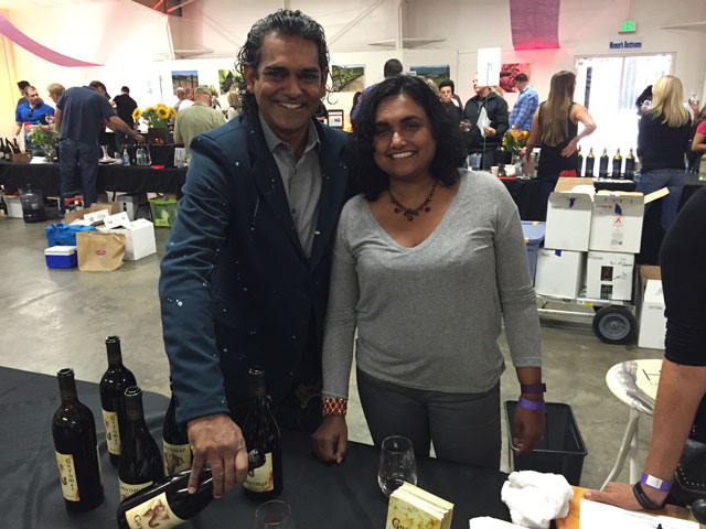 Ishka and Mareeni Stanislaus our their Guyomar wines from the Templeton Gap.
