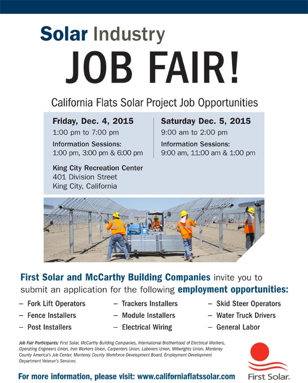 Job fair solar flier