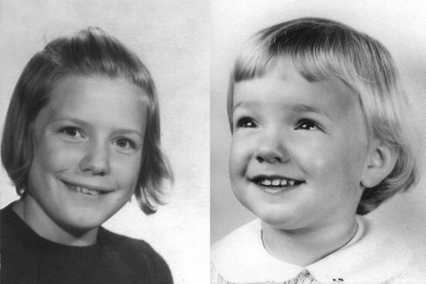 Nancy (left) and Sally Howard pictured here as young children.