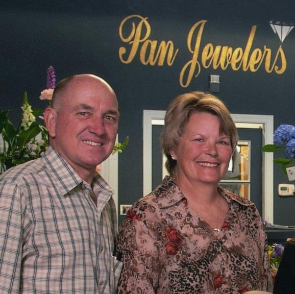 Owners of Pan Jewelers Nick and Pat Sherwin.