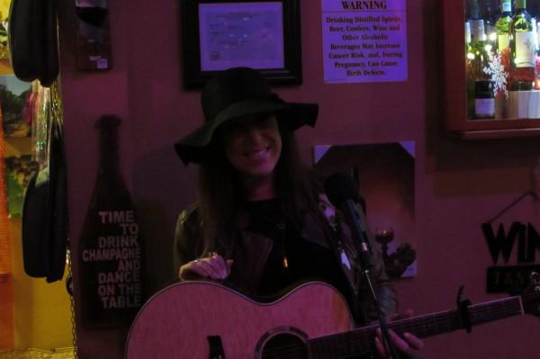Amy Estrada entertaining at Grape Encounters Emporium 1