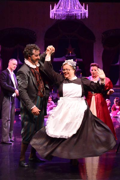 Caleb Cole as Godfather Dosselmeyer and Margaret Shirley as the maid.