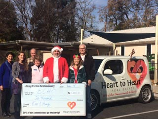 Heart to Heart gifted $1,000 to the El Camino Homeless Organization.