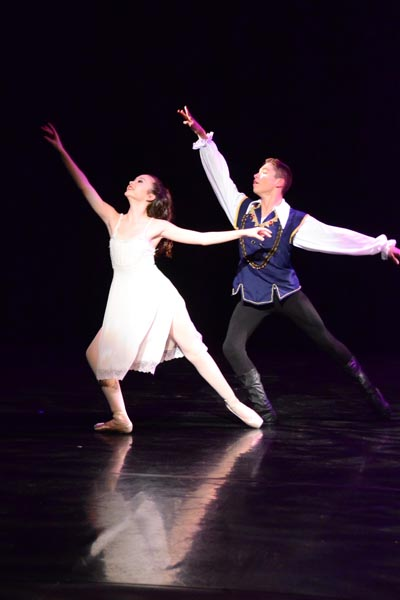 Mikaela Farrer and Oscar Gutierrez made a charming duo as Clara and the Nutcracker Prince.
