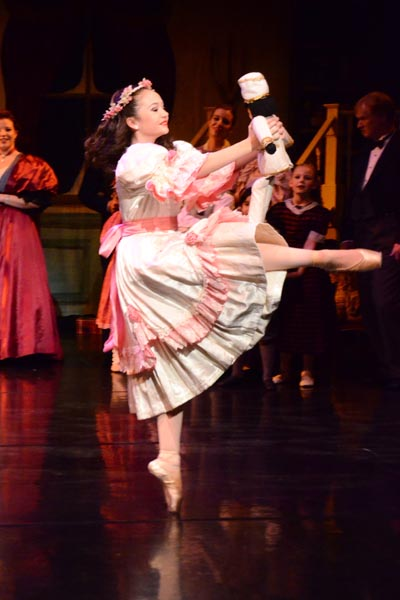 """Mikeaela Farrer was """"on pointe"""" as Clara."""