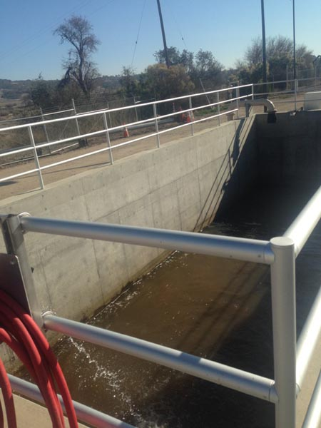 Nacimiento Lake water flows into the Paso Robles water treatment plant.