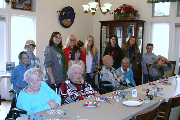 Club members created crafts at Ada's Vineyard Lodges in Paso Robles on Dec. 5.