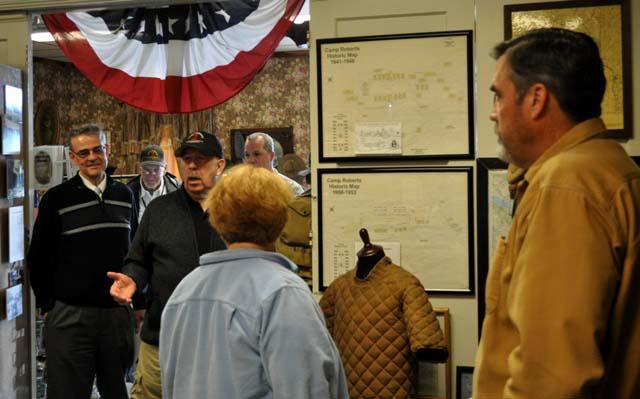 Paso Robles Mayor Steve Martin, Camp Roberts Historical Museum, Gary McMaster, Lieutenant Colonel Kevin Bender, Tom Taylor, Meagan Friberg