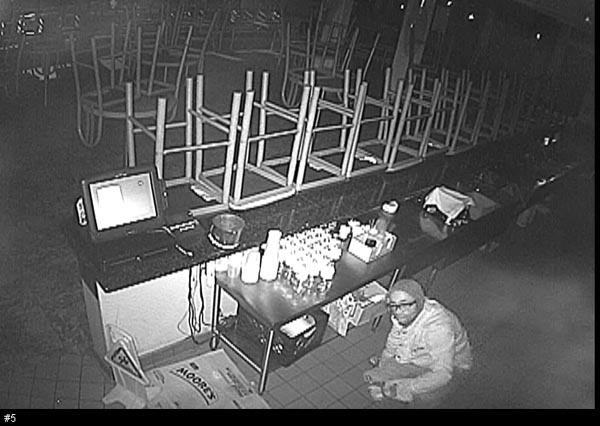 A surveillance photo of burglary suspect Tyrone Brennen.