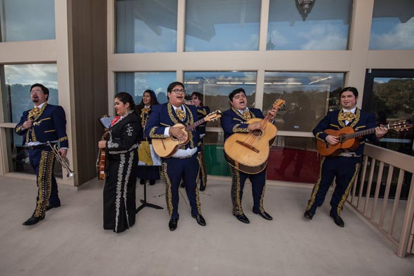 A Mariachi band entertained festival goers.