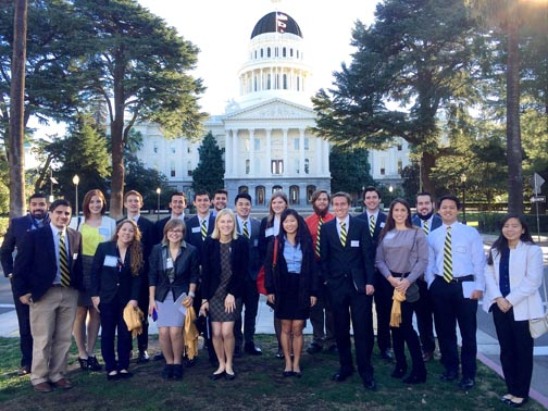 cal poly students at calif capitol