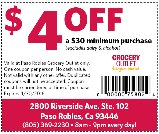 PRDN Grocery Outet$4 off APR2016