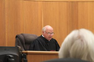 San Luis Obispo County Superior Court Judge John Trice makes comments about the case after statements were read into the record from those affected by Bret Landen's actions on Sept. 11, 2015. Photo by Heather Young