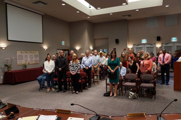 City volunteers thanked